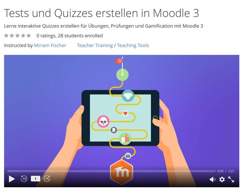 Kurs Tests und Quizzes erstellen in moodle 3